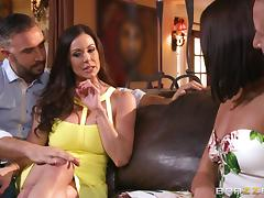 Fabulous model receives a rough pounding from a mature cock group sex