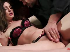 Dinner is over and it's time for him to feed her his cock porn tube video