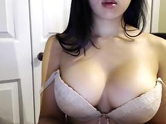 Asian, Asian, Big Tits, Brunette, Solo, Webcam