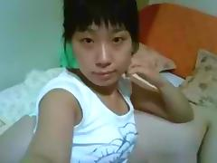 Cute asian girl with hairy pussy pov homemade sextape