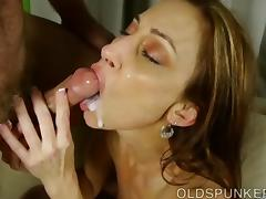 Super sexy slim old spunker is such a hot fuck tube porn video
