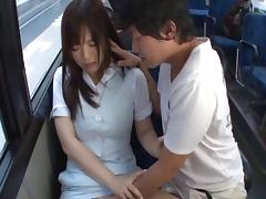 Bus, Asian, Bus, Couple, Hardcore, Horny