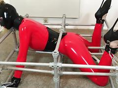 Bupshi - orgasms in latex device bondage