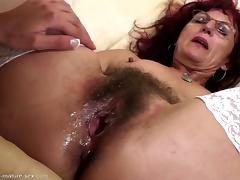Bush, Fisting, Hairy, Mature, Old, Pussy