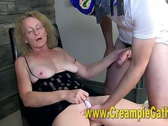Couger Gets A Creampie