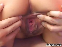 Cute oriental bitch has a hot fuck with her man porn tube video