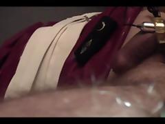 Mistress preparing slaves cock
