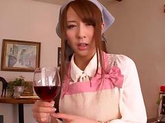Giddy Japanese maid seduces then fucks her horny boss hardcore porn tube video
