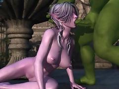 3D anime sucking monster cock porn tube video