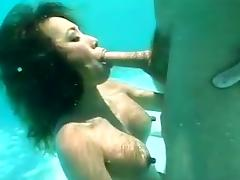 Sunny day and blowjob underwater