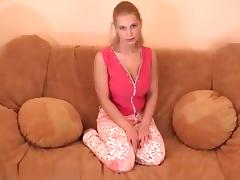 breasty golden-haired can't live without cum