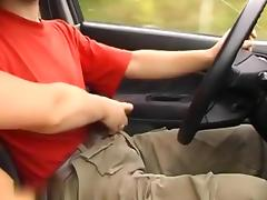 He is driving, I am stroking porn tube video