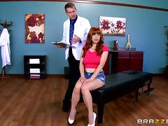 Huge dick doctor ass fucks his voluptuous redheaded patient tube porn video