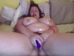 Webcam BBW dildoes to orgasm porn tube video