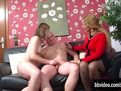 German bitches sharing a horny stud porn tube video