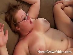 Home video of a chubby girl getting banged by her man porn tube video