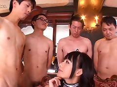 Four different guys fuck Marie Konishi's soft mouth tube porn video