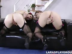 tina gives a nice demonstration with lara
