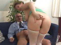 Old Man, Anal, Big Tits, Boobs, Hairy, Hardcore