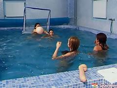 Beauty, Beauty, Lesbian, Pool, Pussy, Sport