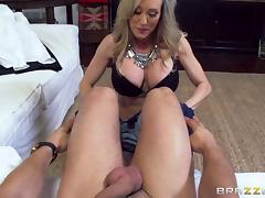 MILF hires a guy with a big dick just to bang her weekly