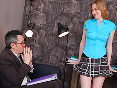 TrickyOldTeacher - Horny attractive student rides older teacher and fucked doggestyle porn tube video