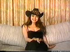 Passionate cowgirl with long black hair thoroughly rammed doggystyle on bed porn tube video