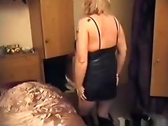 Blonde mature woman sucks cock, gets fingered, doggystyle fucked and creampied porn tube video