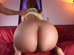 Round ass Japanese doll is being oiled up nicely before getting laid hardcore