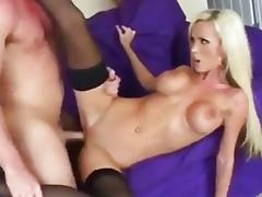 Nikki Benz gets humped on a sofa tube porn video