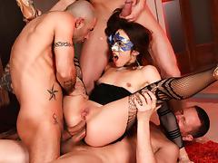 Norma Jane, Mike Angelo, Markus Dupree, Yanick Shaft in Rocco's Perfect Slaves #08, Scene #01