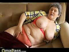 BBW Granny playing with electro toy tube porn video