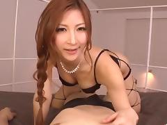 Reira Aisaki dirty POV blowjob combined with sex porn tube video