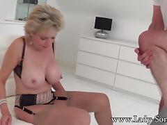 British, Blowjob, Boobs, British, Cum, Lady