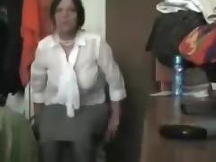 Brunette milf fucks her man in various positions in the bedroom porn tube video