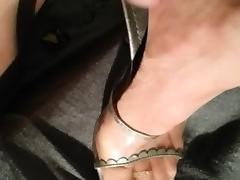 cum on nylons feet and high heels