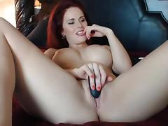 Buxom Fire Redhead porn tube video