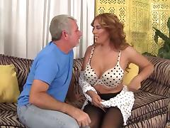 Big dick hammers a curvy milf slut in sexy stockings tube porn video
