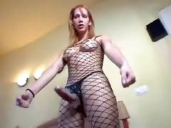 Solo in Fishnets porn tube video