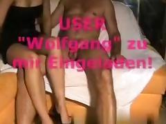 German swinger wife fucks a friend called 'wolfgang' tube porn video