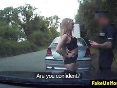 Petite brit pussyslammed by horny cop