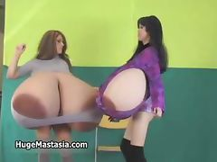 Hot brunette babes go crazy showing off part1