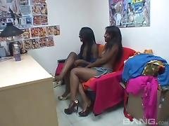 Amateur ebony babes got their cunt licked and fucked hardcore in compilation