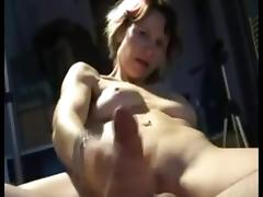 Handjob with a dildo in ass porn tube video