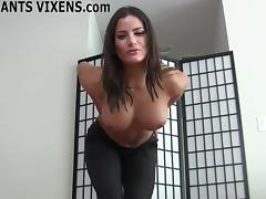 These yoga pants really hug my round ass tightly JOI