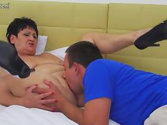 Mom and Boy, Amateur, Fucking, Granny, Mature, Old