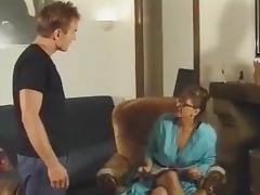 Milf in Glasses and Fishnets Fucks porn tube video