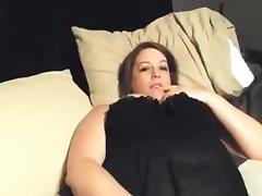Bbw plays with her pussy and gets doggystyle fucked porn tube video