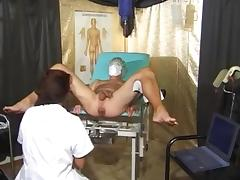 What is the Name of this Gyno Exam Pornstar ? porn tube video