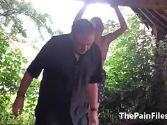 Saschas outdoor tit whipping and ### bizarre domination of amateur bdsm ### in hard spanking outside porn tube video